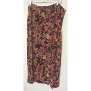 Mirasol Woman Paisley Mosaic Stretch Knit Skirt 2X